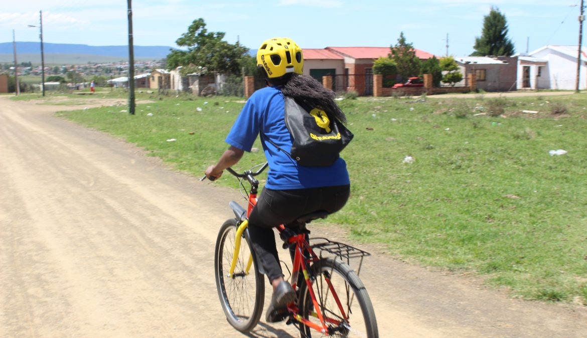 Dimbaza Bike Project allows HAST Counsellors to reach more households