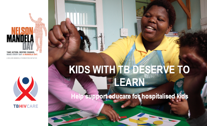 Mandela Day 2019: Bring educare to children hospitalised with TB